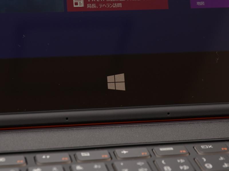 液晶下部のWindowsボタンはセンサー式を採用