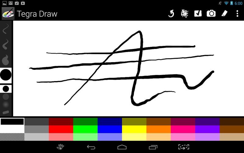 ドロー系アプリの「Tegra Draw」