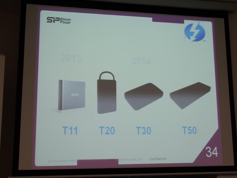 Thunderbolt対応製品として、2014年にはT20/T30/T50も用意する