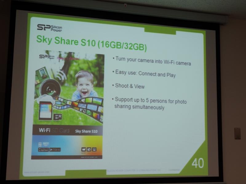Wi-Fi対応SDカードリーダ「Sky Share S10」