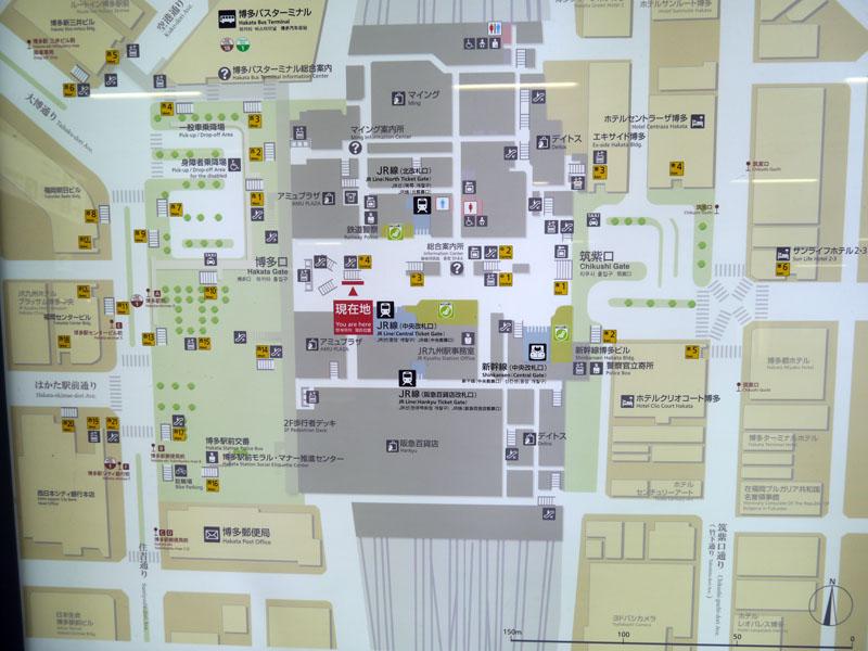 新幹線改札口からもすぐ近くの場所で開催。地図の現在位置のすぐ左側の場所で開催された