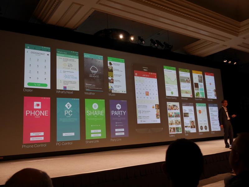 ZenFoneシリーズでは、新開発UI「ZenUI」を採用。SNSやニュース、天気、電話、メールなどを、直感的な操作で簡単に利用できる点が特徴