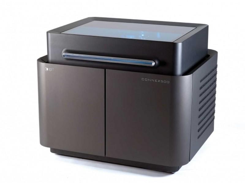 インクジェット方式を採用したStratasysの業務用3Dプリンタ「Objet500 Connex」