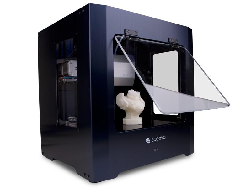 SCOOVO C170の最大造形サイズは、175×150×150mmで、パーソナル3Dプリンタとしては大きい方だ