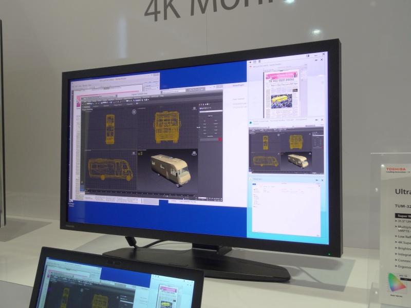 日本では11月に発表12月から発売された業務向け32型4K液晶「TUM-32PRO1」。価格は約150万円