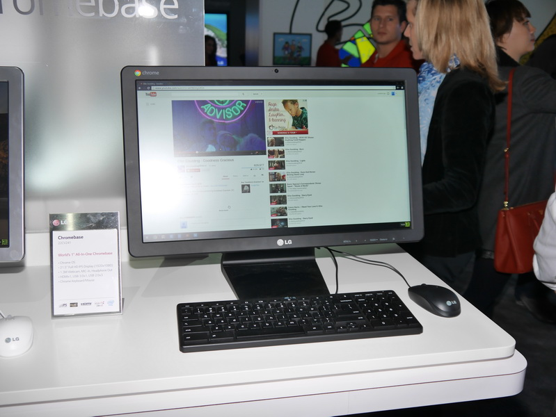 21.5型フルHD液晶一体型のChrome OS搭載PC「Chromebase」