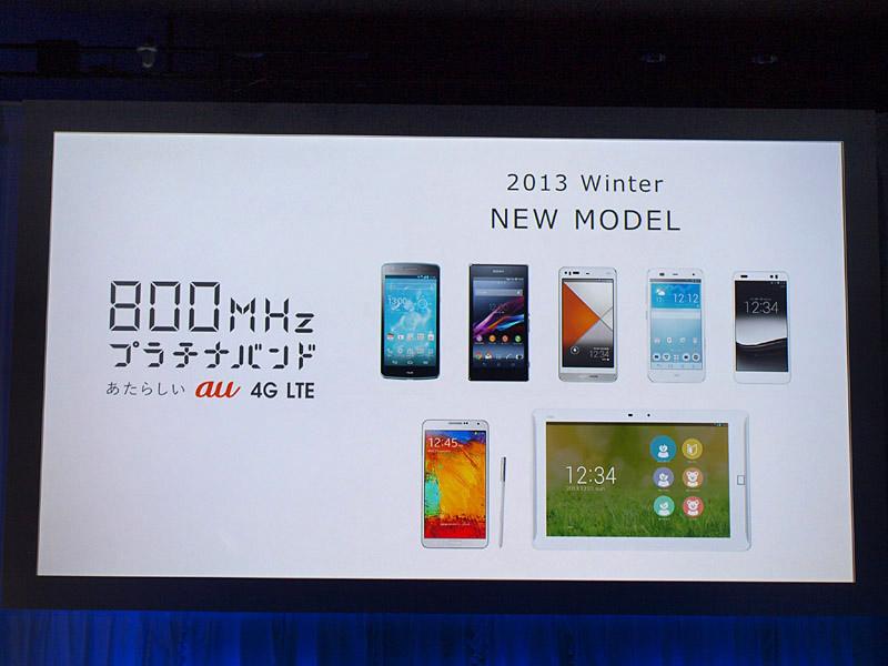 2013年冬モデルは小型モデルが中心だった