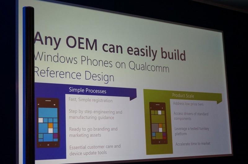 Qualcommのリファレンスデザインを利用すればOEMメーカーが簡単にWindows Phoneを設計できる
