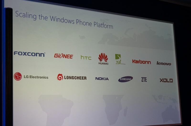 従来の4社を含んだ新しいOEMメーカーのリスト。これだけのOEMメーカーを獲得できたというのは、Microsoftの新戦略が正しいという証しでもある。