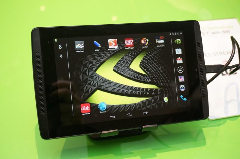 NVIDIAが展示したTegra Note 7 LTE版、外形的にはWi-Fi版と違いは見当たらない