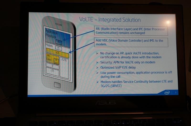 Intel SoCを採用したスマートフォンでのVoLTEの仕組み