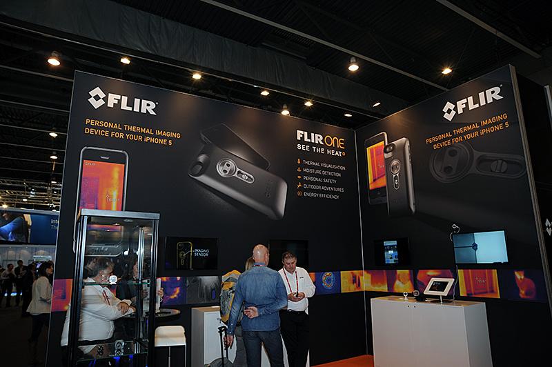 FLIRの「FLIR ONE」。同社における事実上最初のコンシューマ向け製品だという