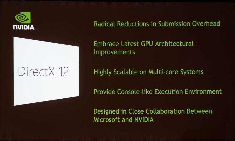 同じくDirectX 12の概要を示すNVIDIAのスライド