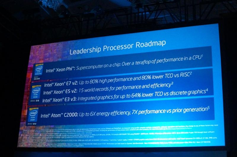 スライドには特に書かれていないが、HaswellベースのXeon E5 v3を今年後半に量産開始