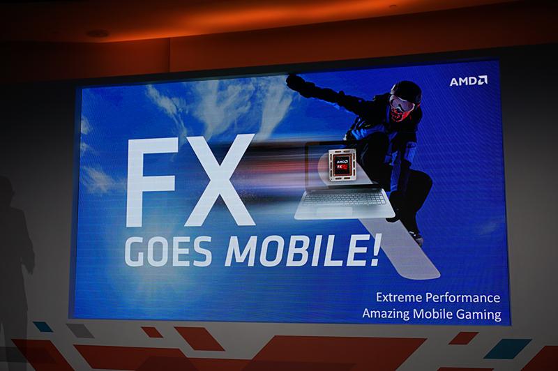 ゲーミングPC/マニア向けブランドであるFXがノートPC向けのKaveriでも採用される