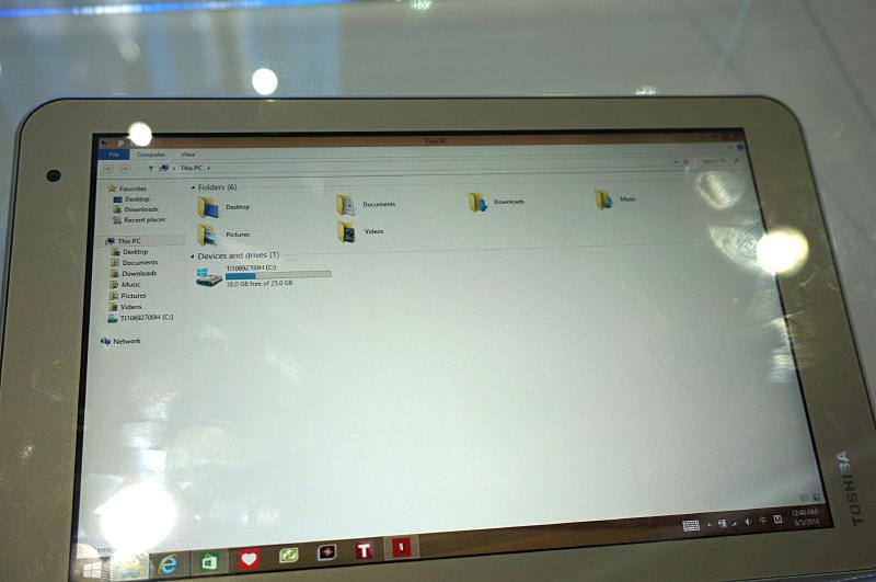 8型のEncore 2のストレージは32GBのeMMCになっていた