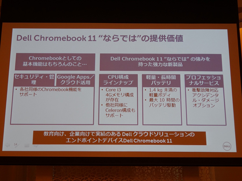 Chromebook 11の独自の価値