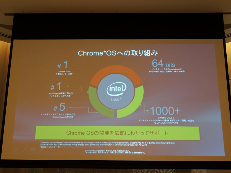 Chrome OSへの参加開発者は最多という