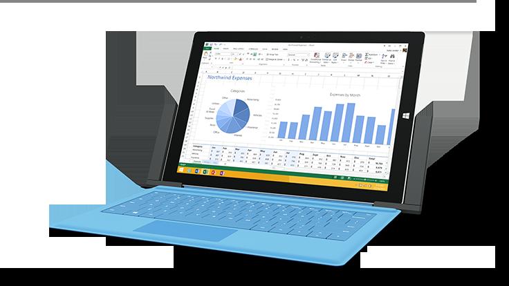 Surface Pro 3を装着したところ