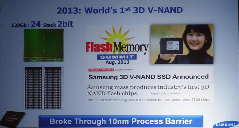 Samsungは昨年のFlash Memory Summitで世界初の3D NANDを発表した