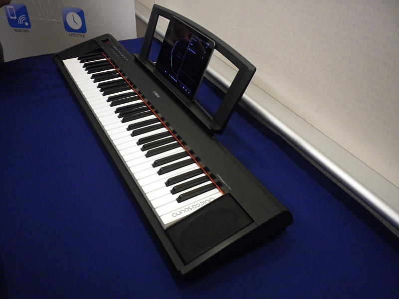 Nordicのチップを使ったMIDIの転送。MIDIデータをiPadに転送する。MIDIデータは非常に小さいため、iPadで多くの曲を記録できる