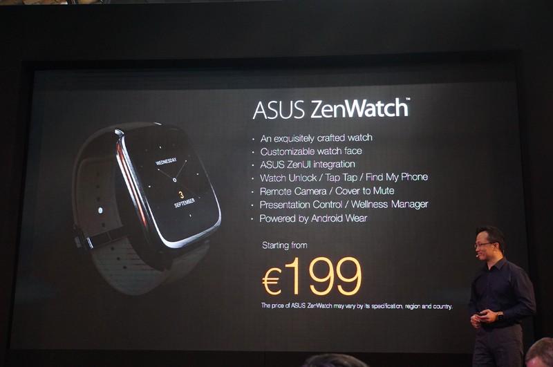 ZenWatchは199ユーロ(日本円で約27,000円)