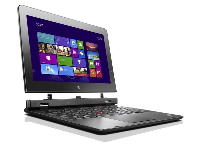 Lenovoの「ThinkPad Helix」。Core Mを搭載し、タブレットの厚さが9.6mmと前世代に比べて薄くなっている
