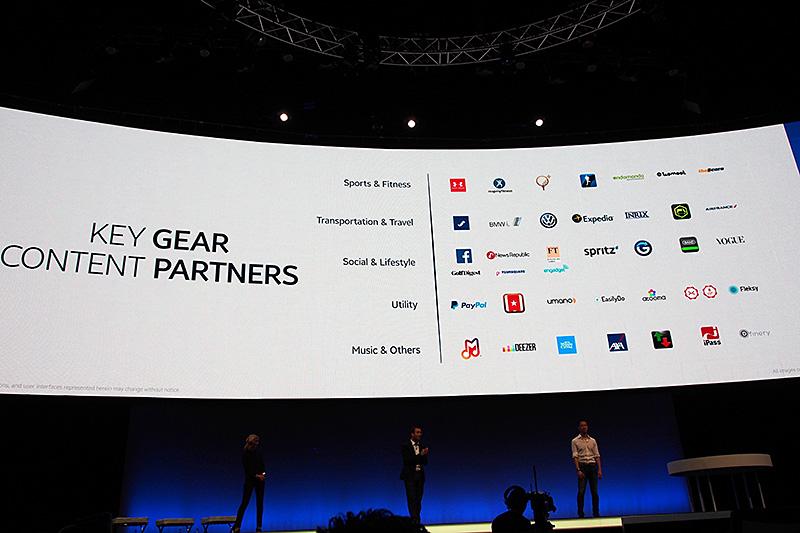 Gear S対応のアプリケーションを提供する各社
