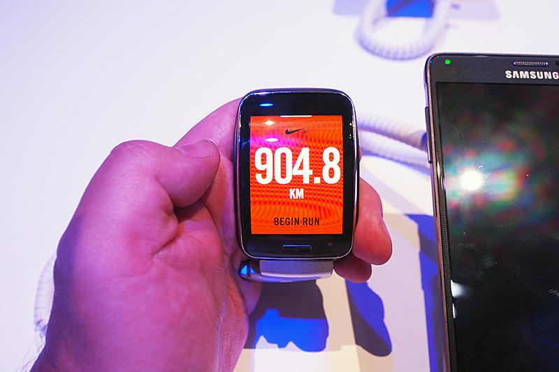 Nike Fuelのアプリケーション。モーションセンサーなどを元に、Nikeが「Nike Fuel」と呼ぶ運動量の数値化を行なう