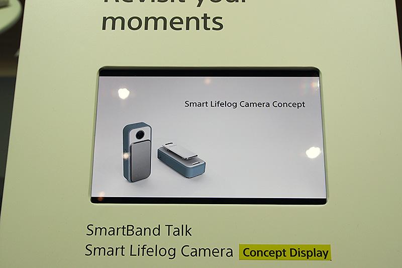 カメラ機能の付いたSmart Lifelog Camera。こちらもコンセプト展示