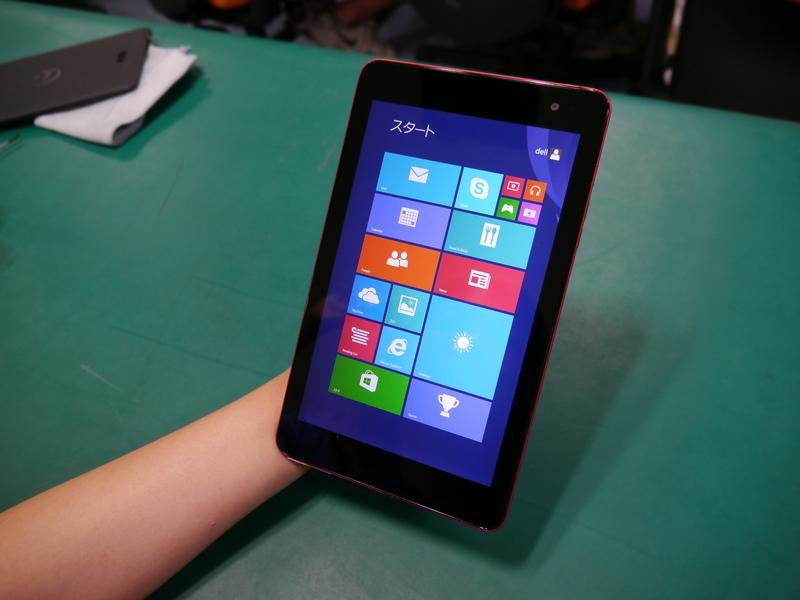 起動した8型Windowsタブレット「Venue 8 Pro」