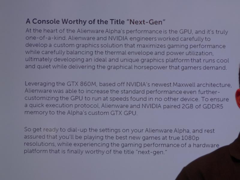 GPUはGeForce GTX 860Mをカスタマイズしたもの