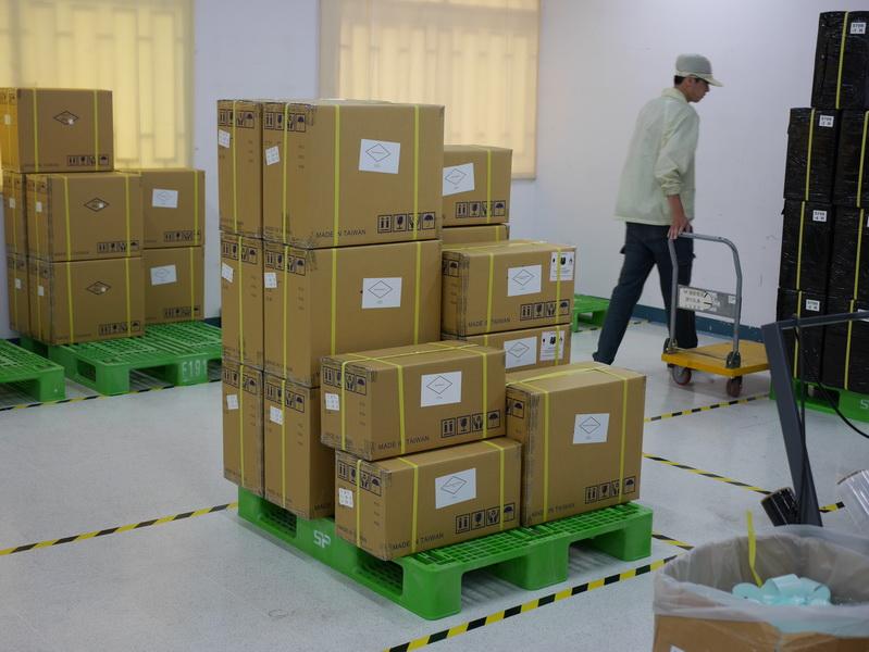 梱包された製品がここから出荷される
