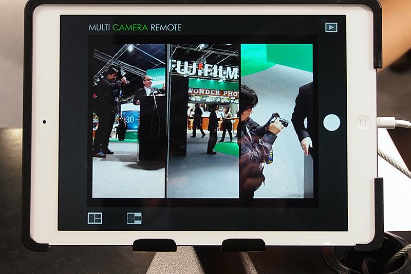 壁面に設置された3台のカメラ。無線LANによりiPadと接続されており、それぞれが撮影している映像をリアルタイムでモニタリングできる