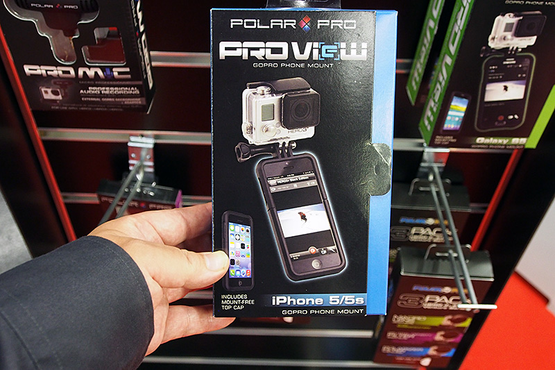 POLAR PROの「PRO VieW」。iPhone 5/5s用のGoProマウンタ