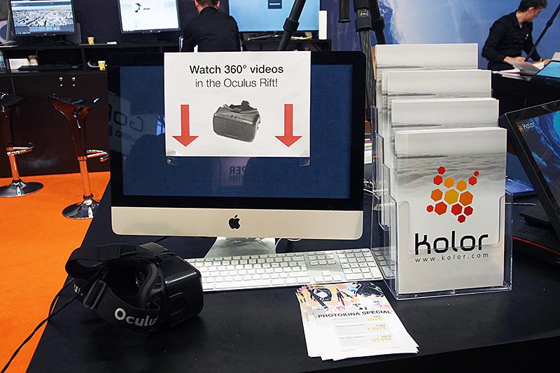 撮影者視点での全天球動画となるため、視聴にはOculus Riftが活用されている