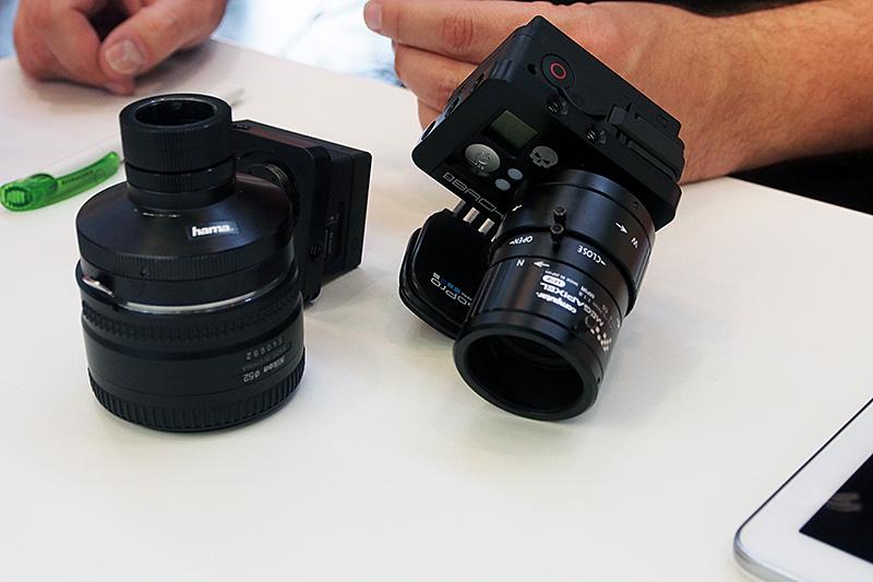 BACK-BONE社の「RIBCAGE」。GoProを撮像素子搭載ユニットとして利用する