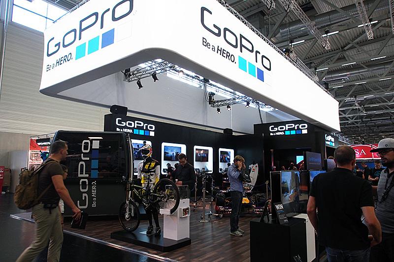 ハードウェア、ソフトウェア、そしてエコシステムとしても大きなプラットホームへと成長したGoProのブース