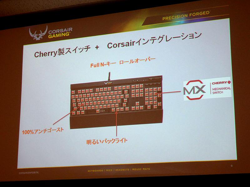 Corsair Gamingキーボードシリーズの特徴