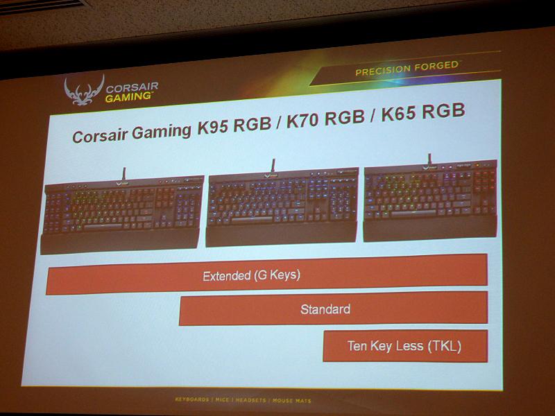 K95/K70/K65のラインナップ