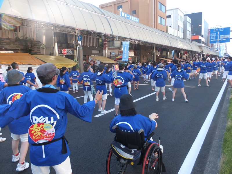 地元開催のえれこっちゃ宮崎では宮崎カスタマーセンターの社員が踊りで参加