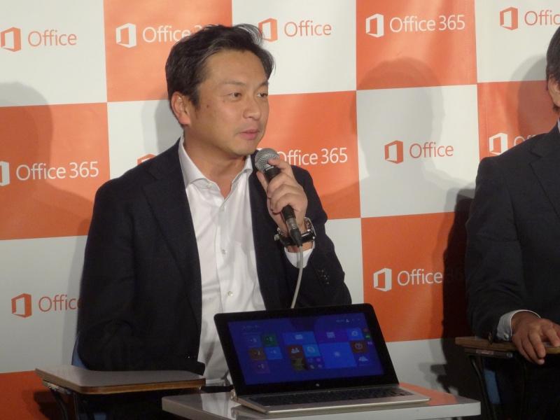 Core M搭載LaVie Uを紹介するNECパーソナルコンピュータの留目真伸氏