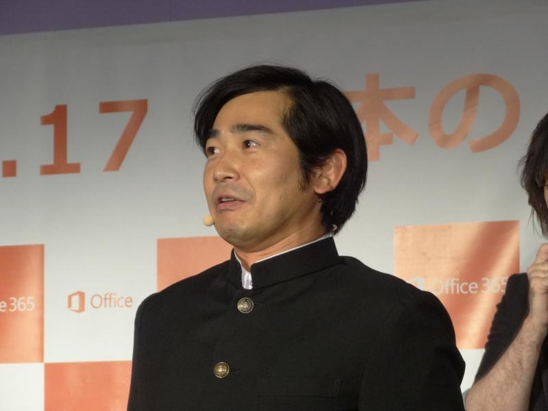 生徒会長役のハマカーン浜谷健司氏