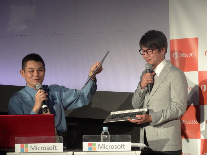 NECパーソナルコンピュータの木村和晃氏はLaVie Uの着脱機構、薄さ、ペン対応などを紹介