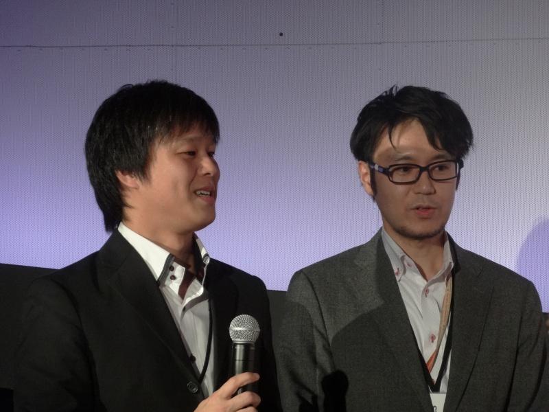 富士通の近上邦彦氏(左)と寺田道信氏(右)