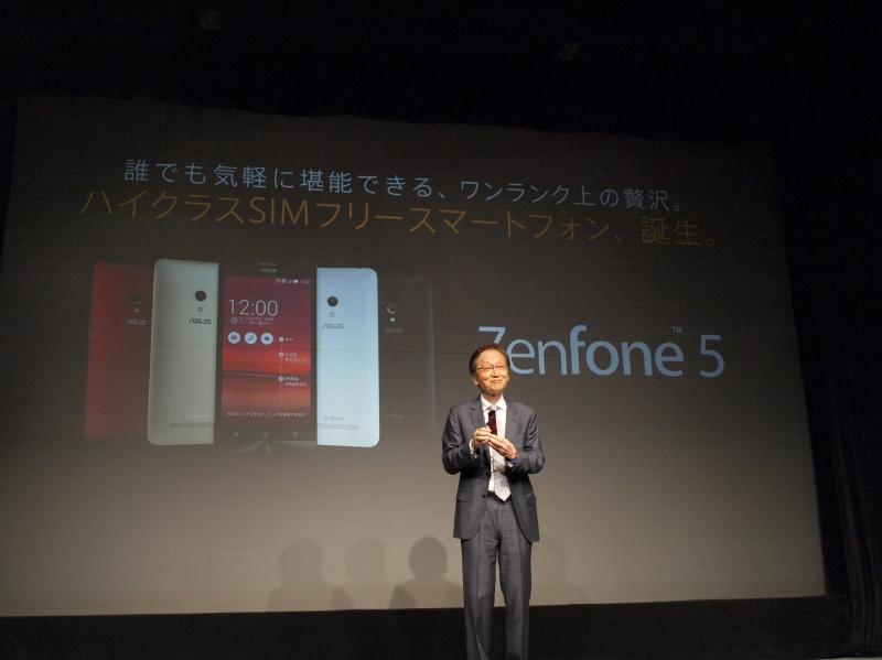 ZenFone 5でも自信を見せるシー氏