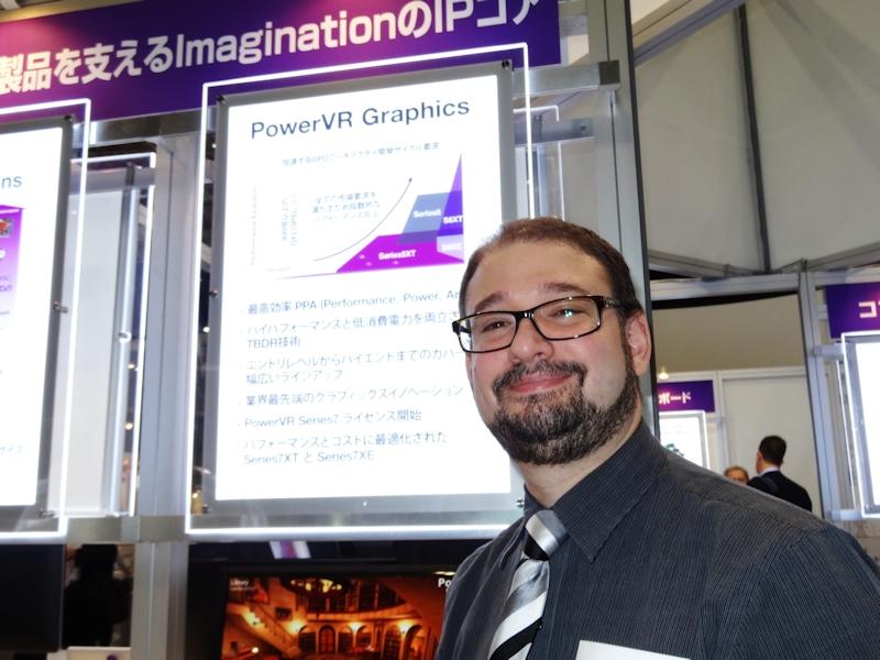 Imagination Technologies Director, PowerVR Graphics Business DevelopmentのKristof Beets氏