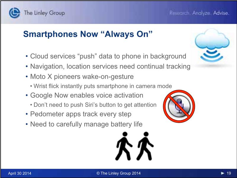 毎年恒例のThe Linley GroupによるLinley Tech Mobile Conference 2014のキーノートスピーチのスライド