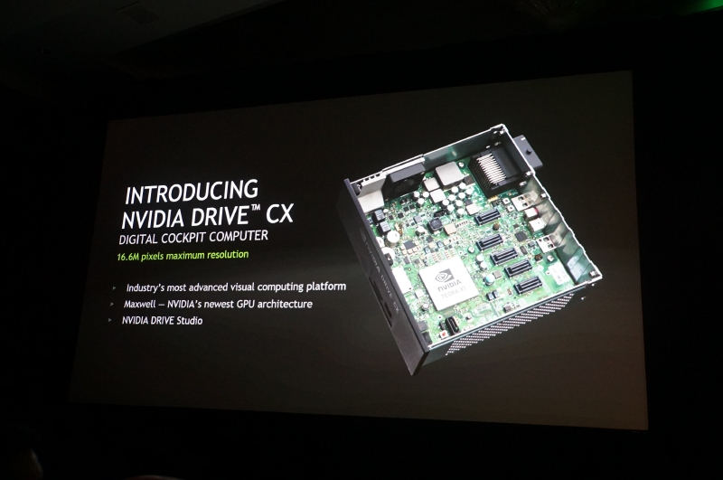 NVIDIAが発表したDRIVE CX。Tegra X1が搭載された自動車向けのモジュールユニット