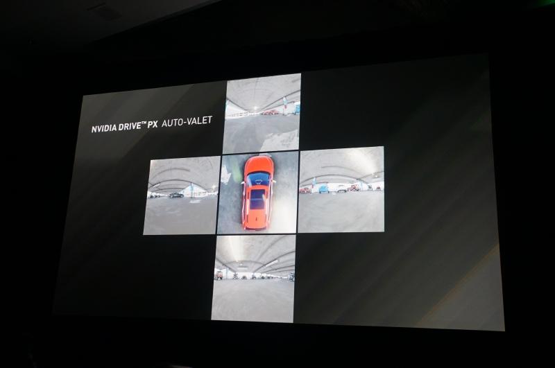 NVIDIAのSurround Vision機能を利用した自動駐車機能のイメージも公開された